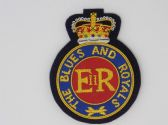 BLUE'S AND ROYAL'S  ( CAP BADGE ) BLAZER BADGE